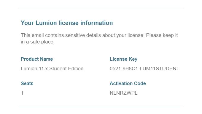 licenční udaje